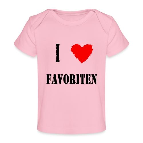 ich liebe favoriten - Baby Bio-T-Shirt