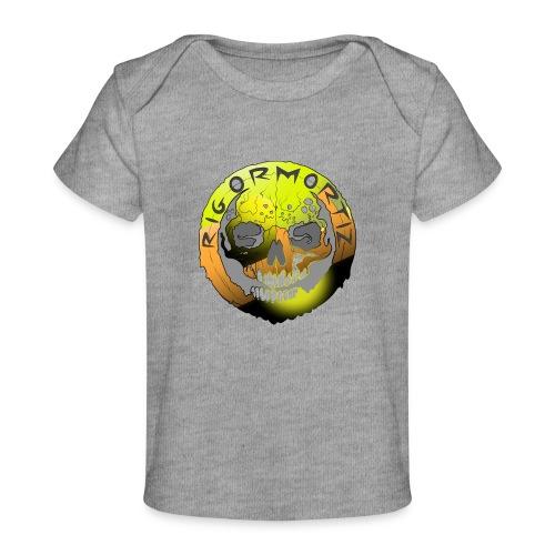 Rigormortiz Metallic Yellow Orange Design - Organic Baby T-Shirt