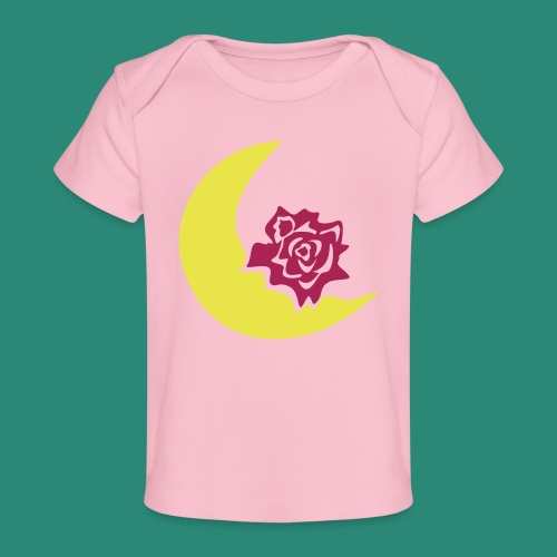 Mondblume svg - Baby Bio-T-Shirt