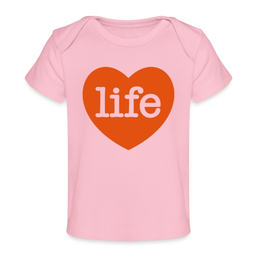 LOVE LIFE heart - Organic Baby T-Shirt