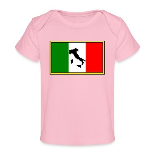 Bandiera Italiana2 - Maglietta ecologica per neonato