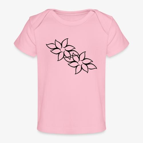 flowers - Økologisk T-shirt til baby