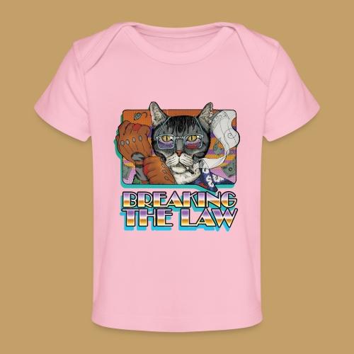 Crime Cat- Breaking the Law - Ekologiczna koszulka dla niemowląt