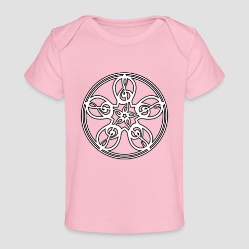 Treble Clef Mandala (white/black outline) - Organic Baby T-Shirt