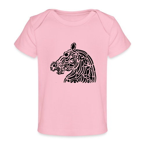 Horse - cheval tribal - T-shirt bio Bébé
