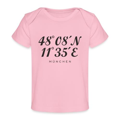 Münchener Koordinaten (Schwarz) München - Baby Bio-T-Shirt