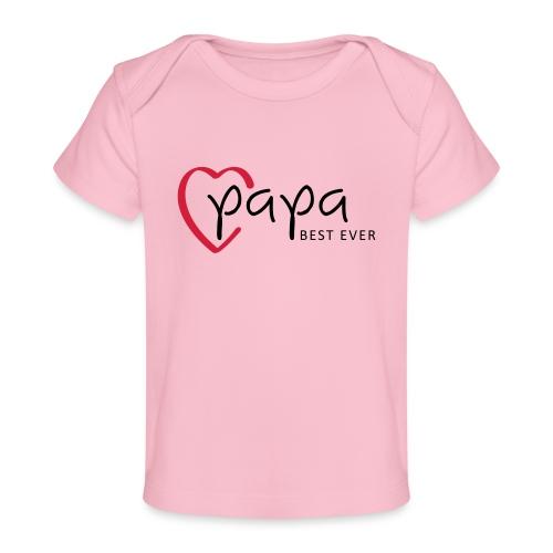 Slogan papa best ever, is mijn held. Baby cadeau. - Baby bio-T-shirt