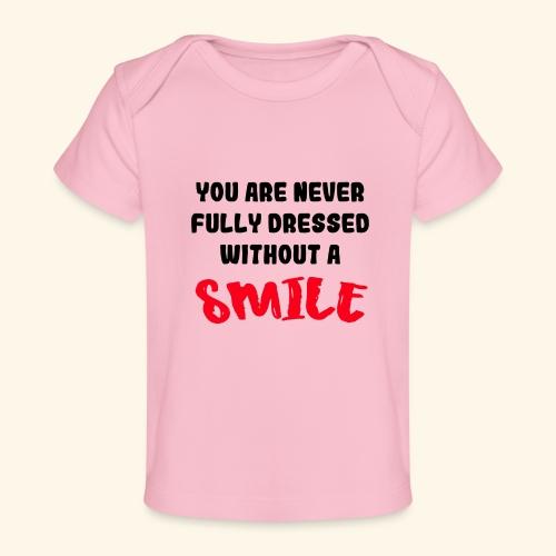 Lyric Liedje met glimlach - Baby bio-T-shirt