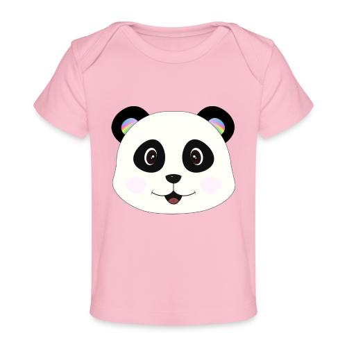 panda rainbow - Camiseta orgánica para bebé
