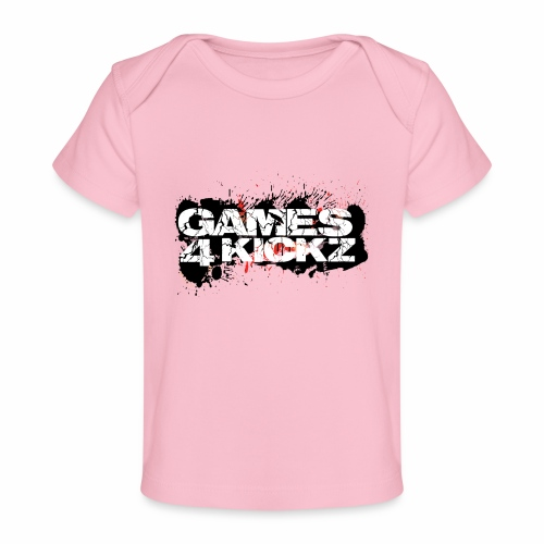 Games4Kickz Logo Splattered Background - Organic Baby T-Shirt