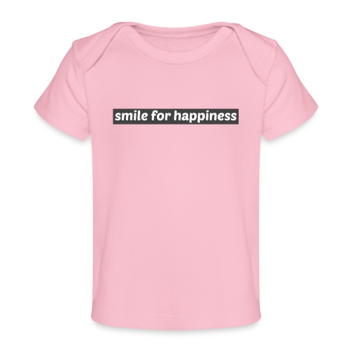 smile for happiness - Ekologisk T-shirt baby