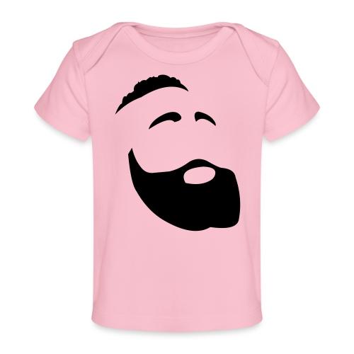 Il Barba, the Beard black - Maglietta ecologica per neonato