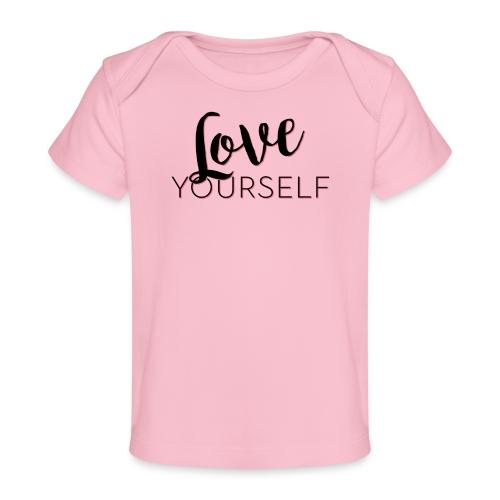 Love Yourself -Schriftzug Pascal Voggenhuber - Baby Bio-T-Shirt