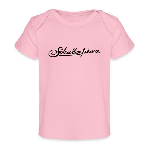 Logo Schwalbenfahrerin - Baby Bio-T-Shirt