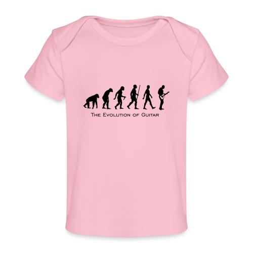 The Evolution Of Guitar - Camiseta orgánica para bebé
