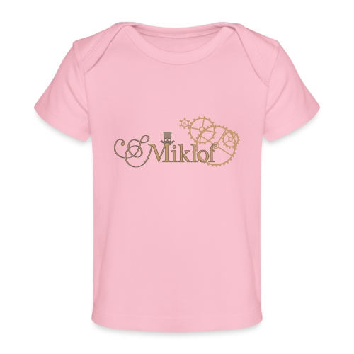 miklof logo gold outlined 3000px - Organic Baby T-Shirt