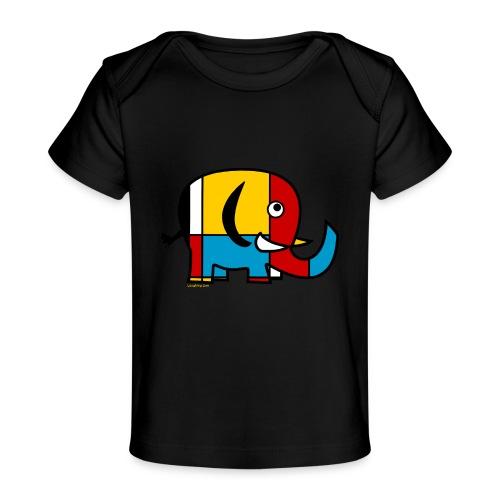 Mondrian Elephant - Organic Baby T-Shirt