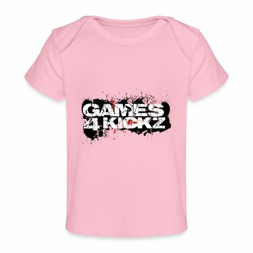 Games4Kickz Logo Splattered Background - Organic Baby T-Shirt