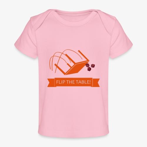 Flip the table! - Økologisk baby-T-skjorte