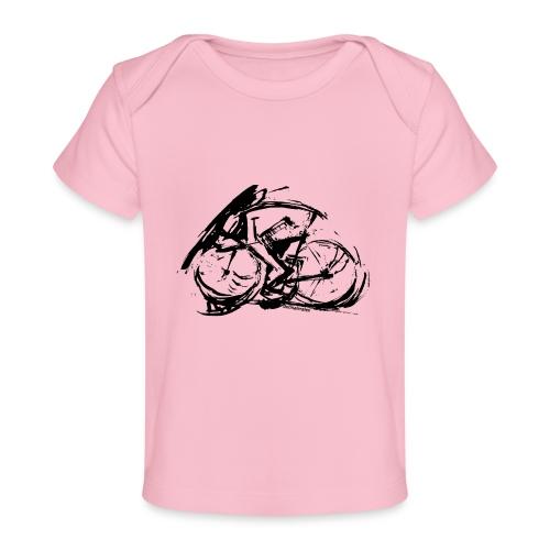futuristischer radfahrer - Baby Bio-T-Shirt