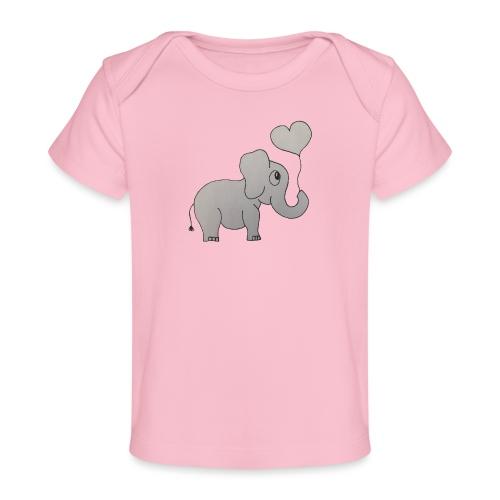 LackyElephant - Baby Bio-T-Shirt