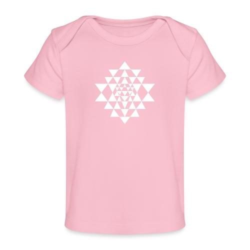 Valkoinen Shri Yantra -kuvio - Vauvojen luomu-t-paita