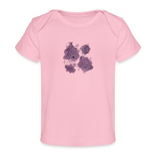 Violet splash chinchilla - Vauvojen luomu-t-paita