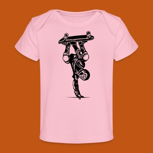 Skater / Skateboarder 02_schwarz - Baby Bio-T-Shirt