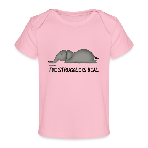 Amy's 'Struggle' design (black txt) - Organic Baby T-Shirt