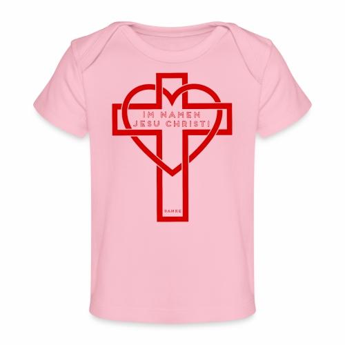 Im Namen JESU CHRISTI - rot - Baby Bio-T-Shirt