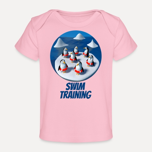 Pinguine beim Schwimmunterricht - Organic Baby T-Shirt
