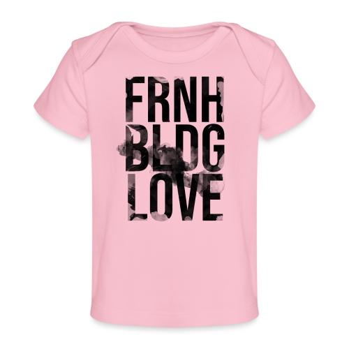 Französische Bulldogge Liebe wasserfarben - Baby Bio-T-Shirt
