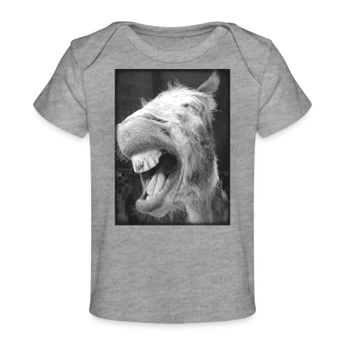 lachender Esel - Baby Bio-T-Shirt