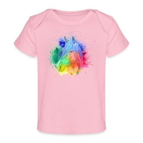 Pferd bunt Reiten - Baby Bio-T-Shirt