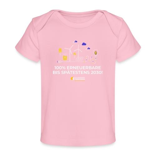 100% Erneuerbare 2030 w - Baby Bio-T-Shirt