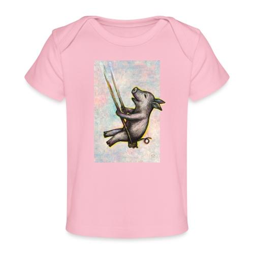 Schaukel-Schweinchen - Baby Bio-T-Shirt
