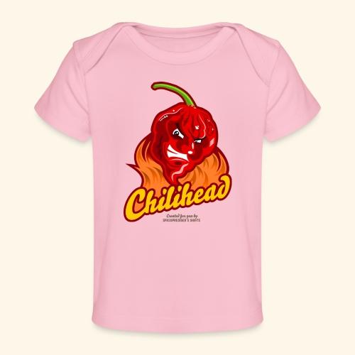 Chili Design Cartoon Chilihead | Grill T-Shirts - Baby Bio-T-Shirt