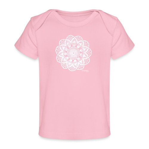 Granny´s Flower, valkoinen - Vauvojen luomu-t-paita