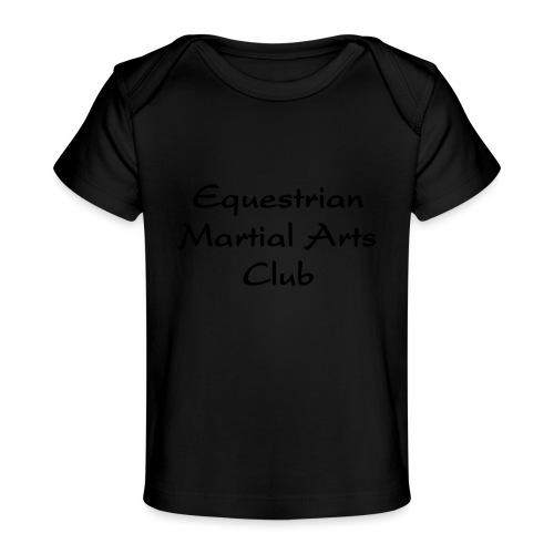 EMAC_logo_teksti - Vauvojen luomu-t-paita
