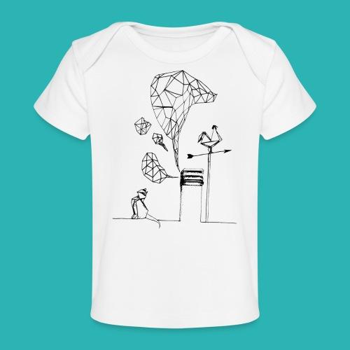 Carta_gatta-png - Maglietta ecologica per neonato