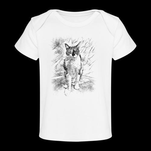 le chat prend la pose - T-shirt bio Bébé
