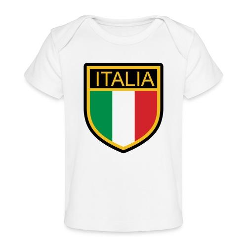 SCUDETTO ITALIA CALCIO - Maglietta ecologica per neonato