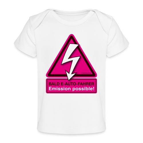 Bald E-AUTO-Fahrer - Emission possible - Baby Bio-T-Shirt