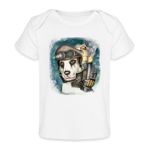 Steampunk Dog #2b - Maglietta ecologica per neonato