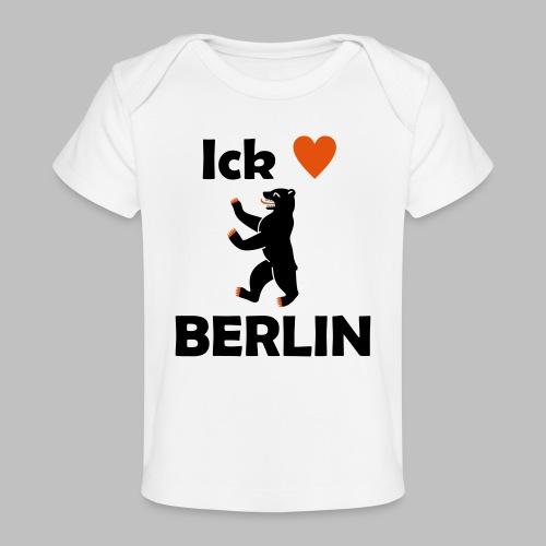 Ick liebe ❤ Berlin - Baby Bio-T-Shirt