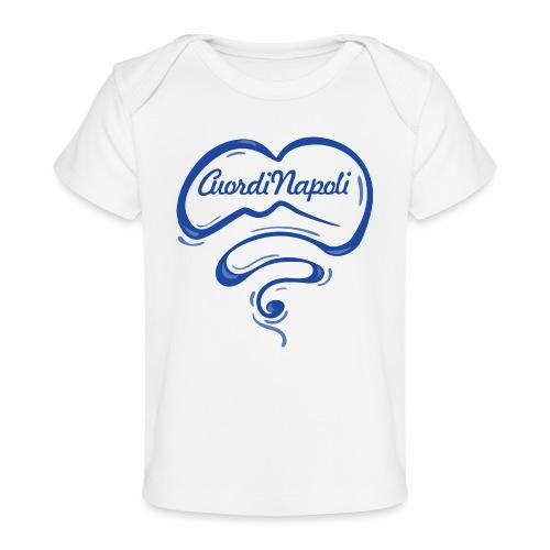 New Logo CuordiNapoli Blu - Maglietta ecologica per neonato