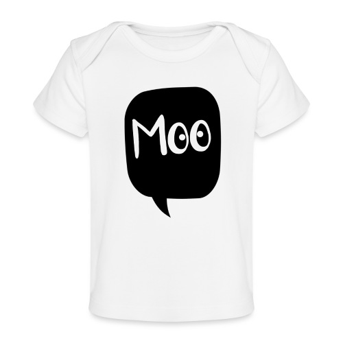 bubble moo white design - Organic Baby T-Shirt