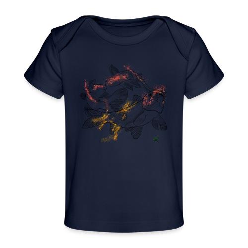 Carpa koi color - Maglietta ecologica per neonato