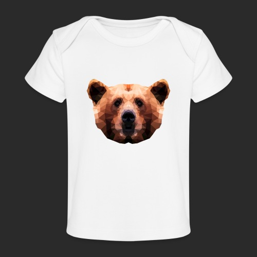 Low-Poly Bear - Baby Bio-T-Shirt
