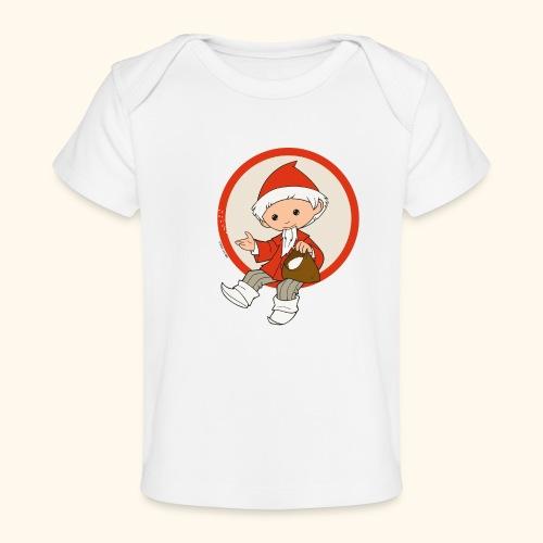Sandmännchen streut Sand - Baby Bio-T-Shirt